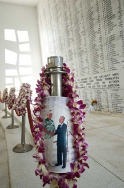 Pearl Harbor, Zenji Abe, Dick Fiske story of reconciliation at USS Arizona Memorial, photo by Jerry Kaufman
