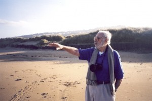 Normandy, France, WWII Veteran on beach 55 years after D-Day, photo by Jerry Kaufman available from Images of Renewal