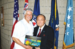 Author Jerry Kaufman with Senator Daniel Inouye, HI