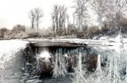 Jerry Kaufman, Photography of Washington, Snoqualmie River, solarization
