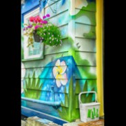 Jerry Kaufman, Splash of color at A2, Photography of Canada, British Columbia, colorful boat house