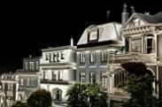 Jerry Kaufman, Houses of Divisadero Street, San Francisco, Photography of San Francisco victorian houses