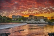 Jerry Kaufman, Sunrise at the Museum, Philadelphia, Photography Philadelphia Art Museum at sunrise