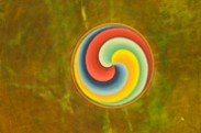 Jerry Kaufman, Transforming Color, Vancouver, BC, Photography of Tibetan Buddhist drum color swirl